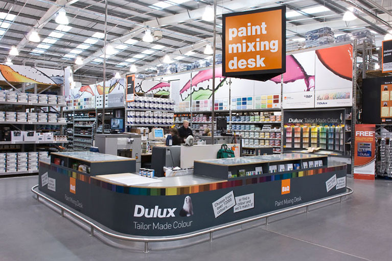 b&q shop fitting revamp