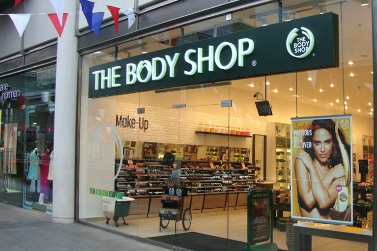 Shop fitting of Body Shop stores in Liverpool One and throughout the UK