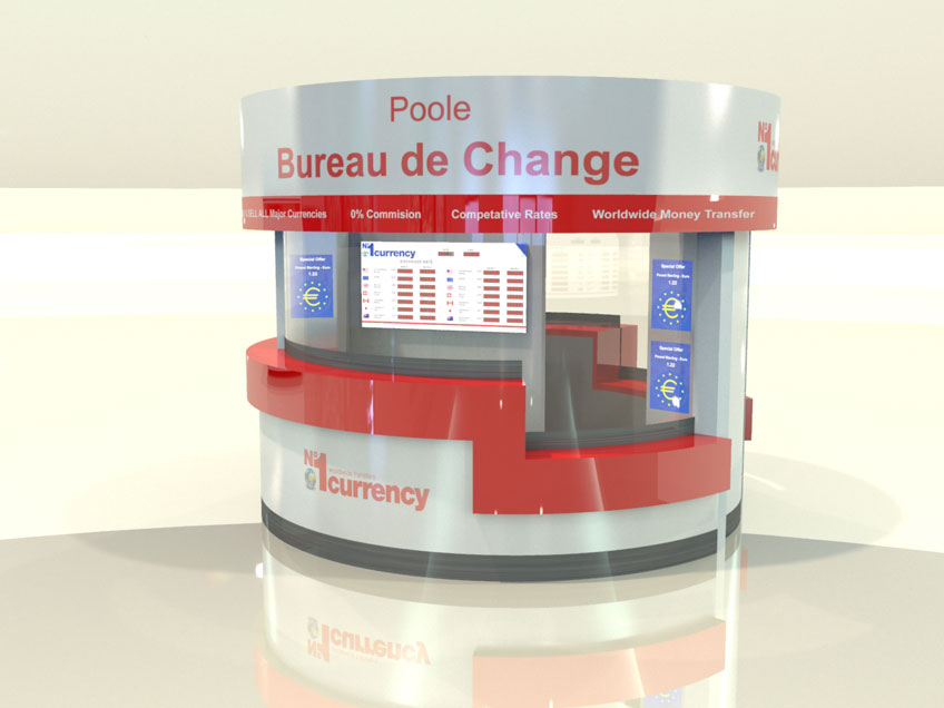 Bureau De Change poole - kiosk design