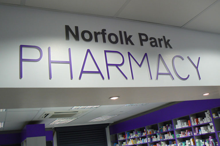 Shop fitting of pharmacies in Yorkshire and throughout the UK