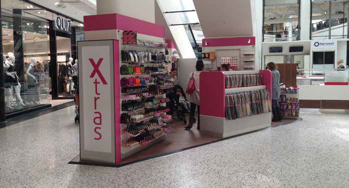 Shopping centre retail kiosk design and fitouts