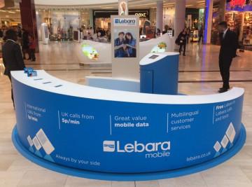 Lebara mobile kiosk design, manufacture and installation