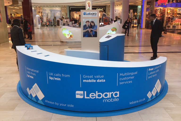 Lebara mobile kiosk design, manufacture and installation