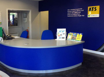 Shop fitting carried out by White Rose Services for ATS Bourne