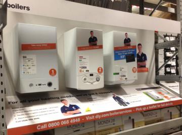 b&q boiler and pump displays manufacture