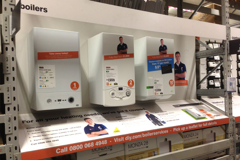 b&q boiler and pump displays manufacture