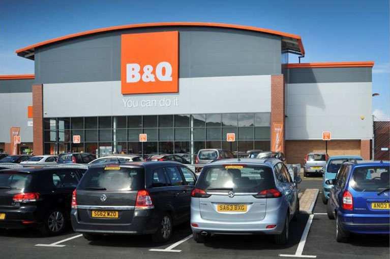 b&q port glasgow fit-out