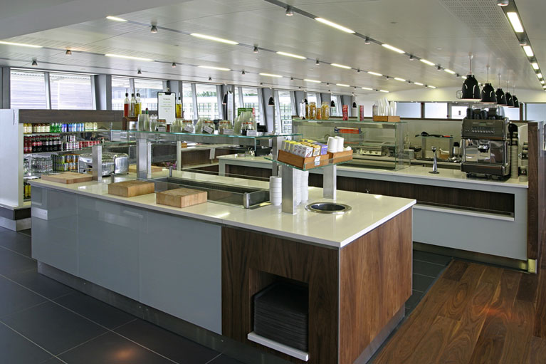Canteen refurbishment carried out for Rolls Royce by White Rose Services