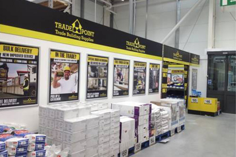 Shop fitting for Trade Point stores throughout the UK