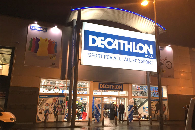 Shopfitting carried out for Decathlon Stores